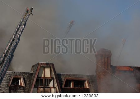 Large Apartment Fire