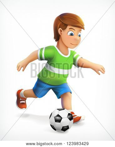 Little football player, vector icon