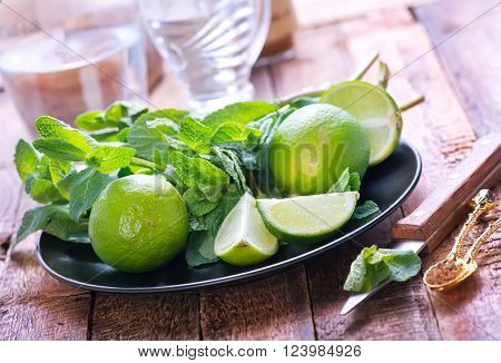 Mint And Fresh Limes