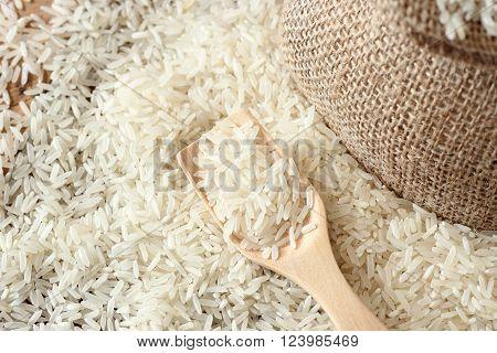 Jasmine Rice. Rice Grains.