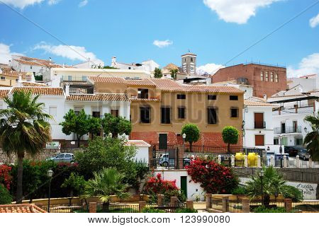 RIO GORDO, SPAIN - JUNE 1, 2008 - View of town centre buildings Rio Gordo Malaga Province Andalusia Spain Western Europe, June 1, 2008.