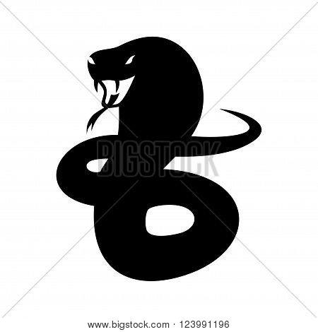 Cobra image on a white background vector illustration