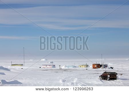 Polar and research station in Arctic, Russia