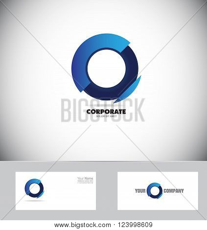 Vector company logo icon element template blue circle corporate business media