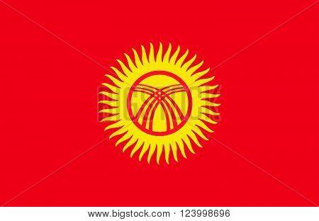 Kyrgyzstan Flag.