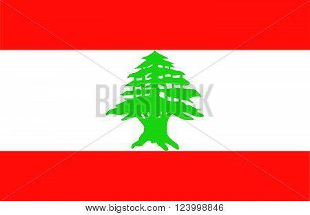 Nice drawing of amazing horizontal Lebanese flag.