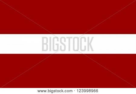 Nice drawing of amazing horizontal Latvian flag.