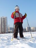 Boy Skiing In The City