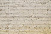 The old white brick wall for a background or structures.
