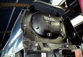 pic of loco  - City of Wells West Country Class Steam Loco in Haworth Engine Shed  - JPG