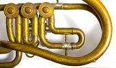 picture of musical instruments  - part of brass music instrument - JPG