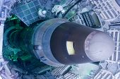 picture of missles  - A Titan II missle positioned in its silo.