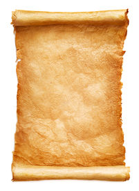 picture of scroll  - Antique paper scroll on white background - JPG