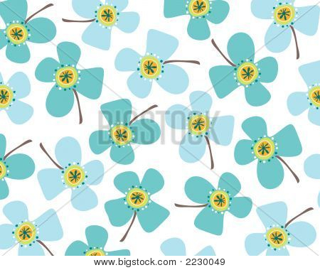 Baby Blue Daisies (Vector)