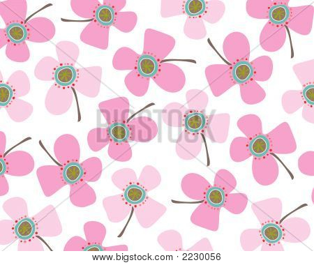 Baby Pink Daisies (Vector)