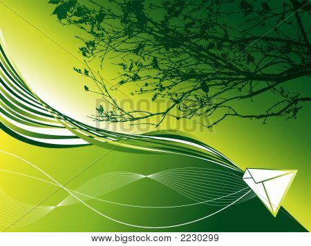 Green Earth Twist Mail (Vector)