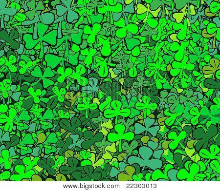 Find Four-leaf Clover - Vector