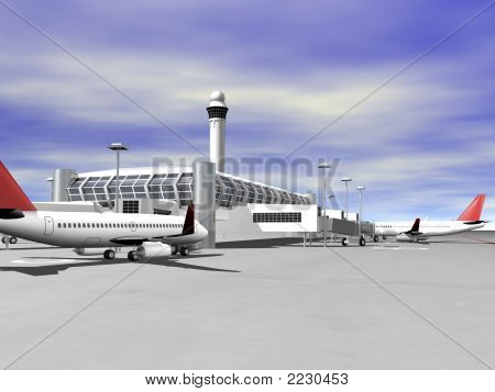 3D Airport Side View