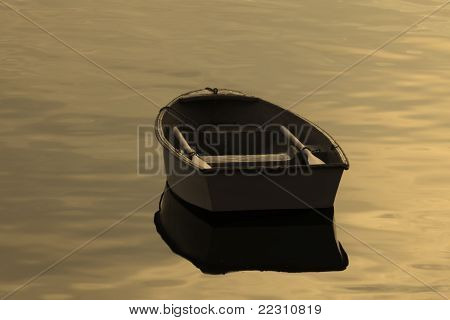 Old Rowboat on calm waters