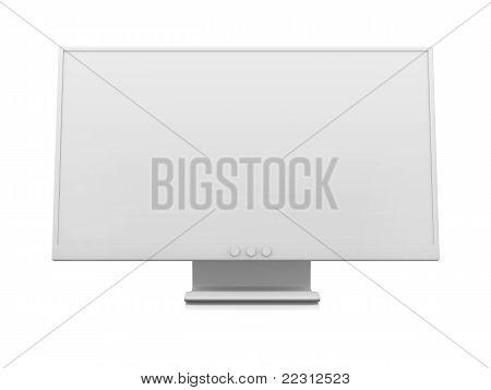Weißer Flachbildschirm