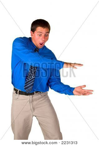 Businessman Dropping Object