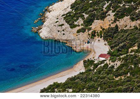 Beach Lubenice Aerial
