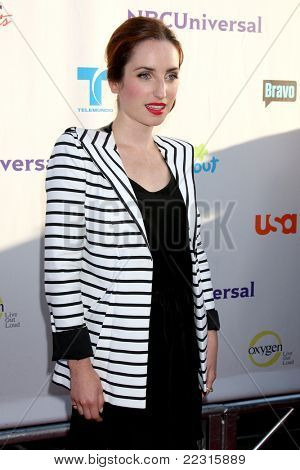LOS ANGELES - AUG 1:  Zoe Lister-Jones arriving at the NBC TCA Summer 2011 All Star Party at SLS Hotel on August 1, 2011 in Los Angeles, CA