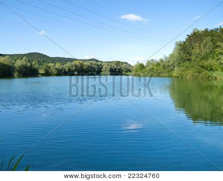 Fishing pond in south germany