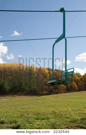 Chair Lift In Fall