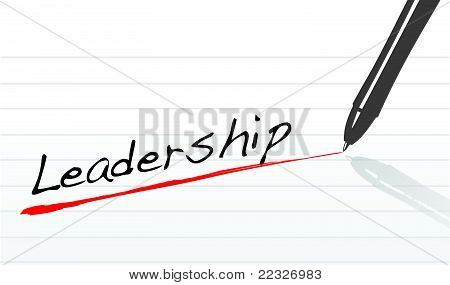leadership underlined in pen on a white background