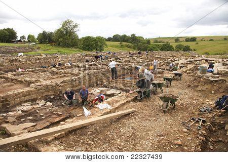 Archaeologists At Work At Roman Vindolanda