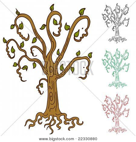 An abstract image representing a family tree.