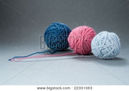 Three Yarn Balls
