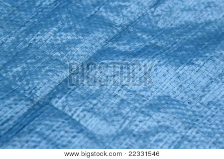 Blue tarp - construction tarp