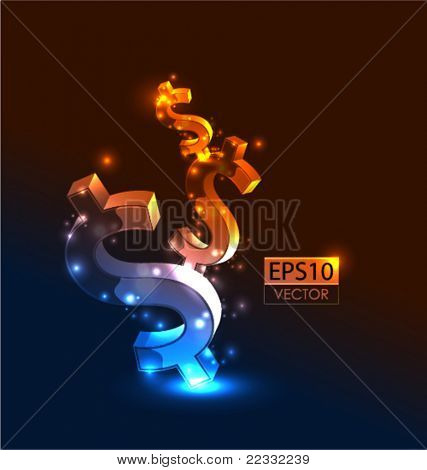 Growing money vector conceptual background