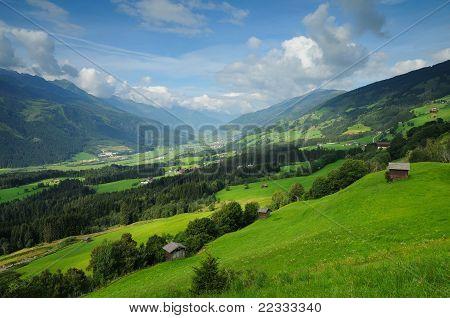 high mountains landscape