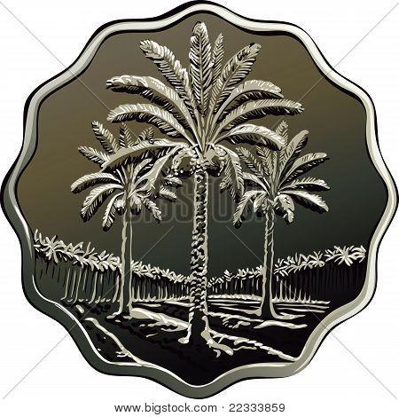 Vector Iraqi Coin