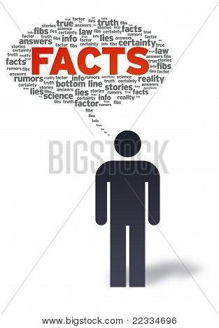 Paper Man With Facts Bubble