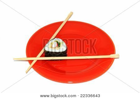 Japanese Sushi With Crabs