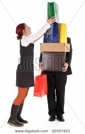 viaje de compras