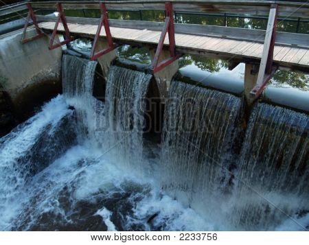 Dam Near Canal Locks; Lambertville, New Jersey