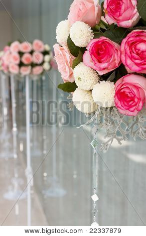 Wedding Rose Flowers Bucket