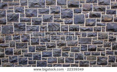 Rectangular Stone Wall Far