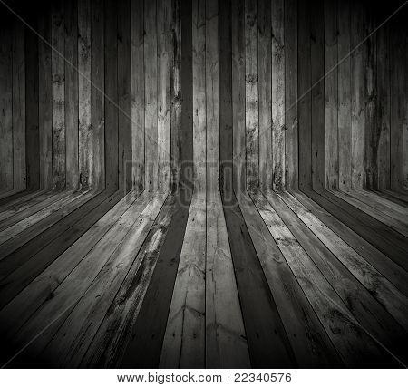 Dark Wooden Room