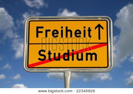 German Road Sign Study And Freedom