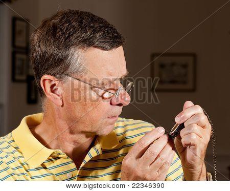 Senior Repairing Pocket Watch