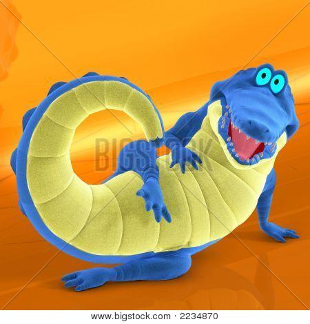 Toon Croc Blue 01 B Kopie