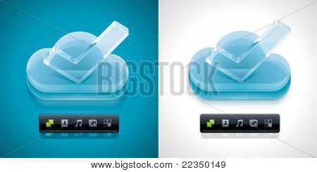 Vector cloud computing XXL icon