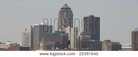 Skyline de Des Moines, IA de julho de 2011
