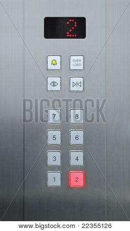 2 floor on elevator buttons